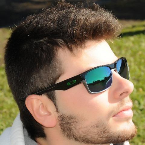 7145321bc6e86 Óculos Masculino Preto Lente Verde Espelhada Co-007659 - R  119