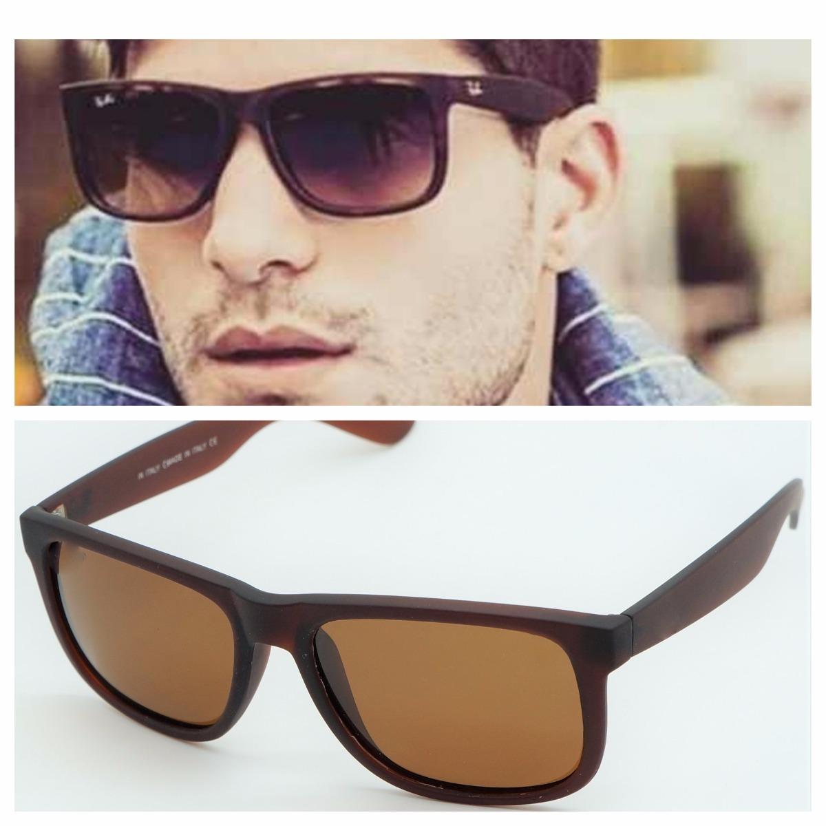 82d2241c40bf9 óculos masculino quadrado justin espelhado marrom polarizado. Carregando  zoom.