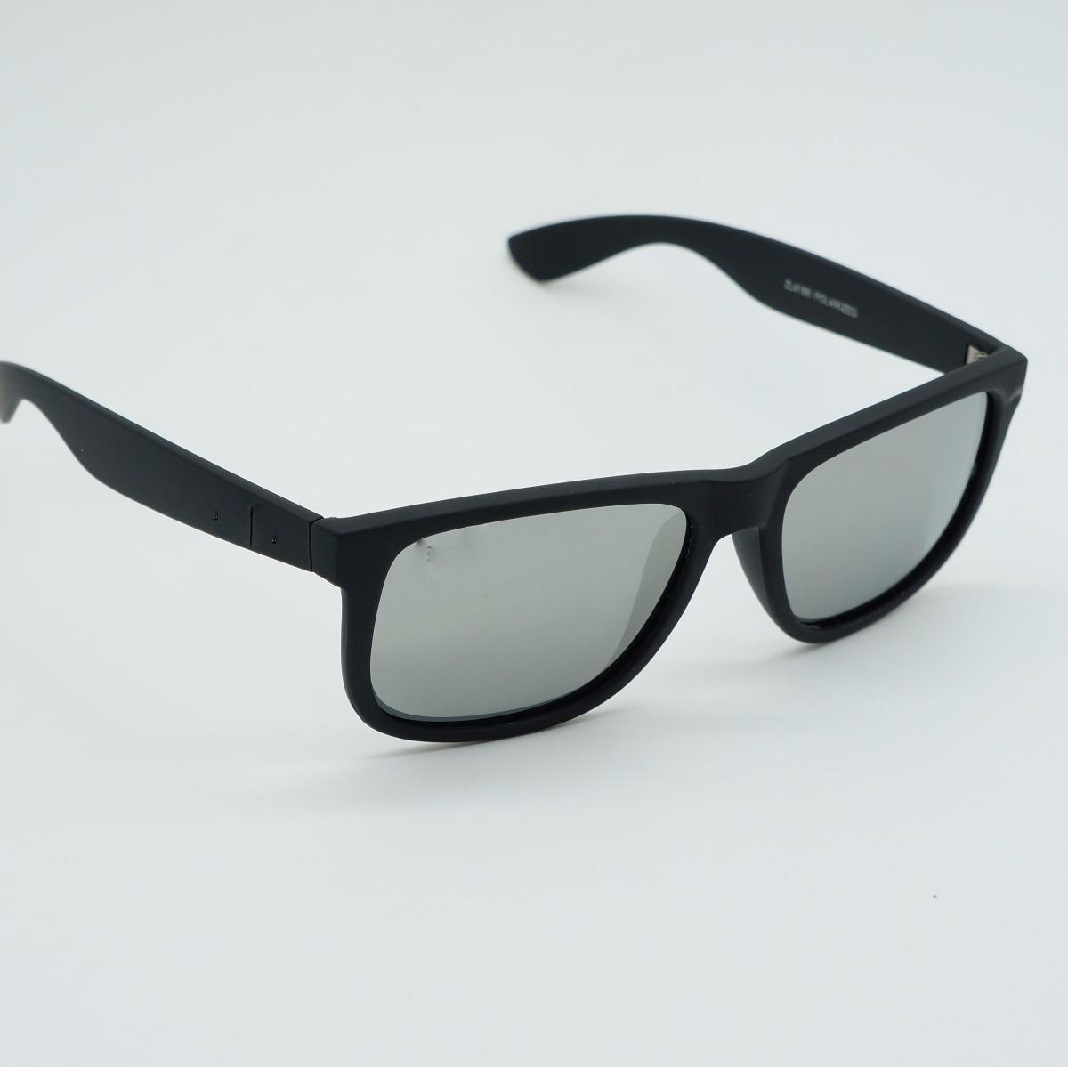 7ebf4f2d6 óculos masculino quadrado justin espelhado prata polarizado. Carregando zoom .