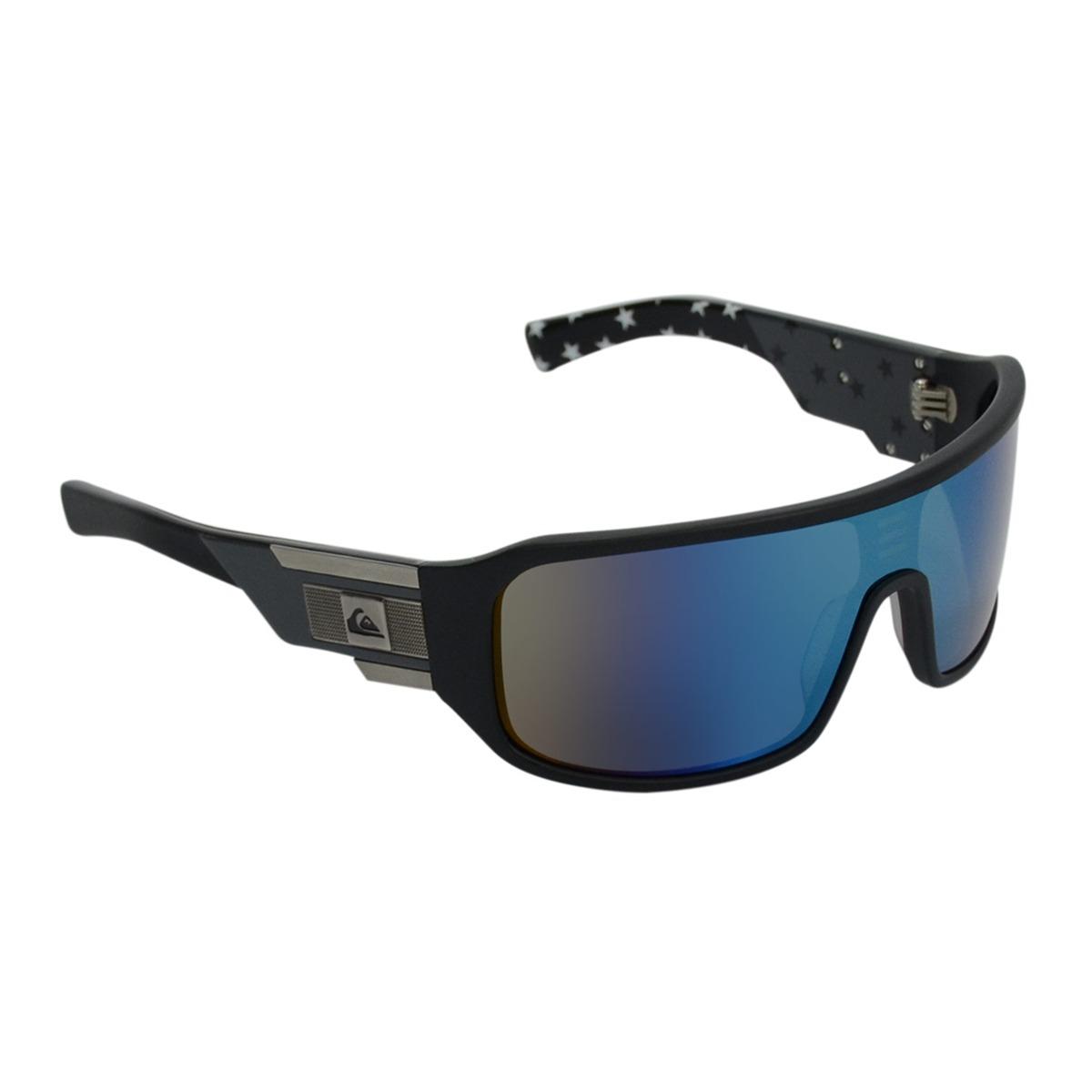b4e1ada6ec0ae Óculos Masculino Quiksilver Racer Black Blue - R  249,00 em Mercado ...
