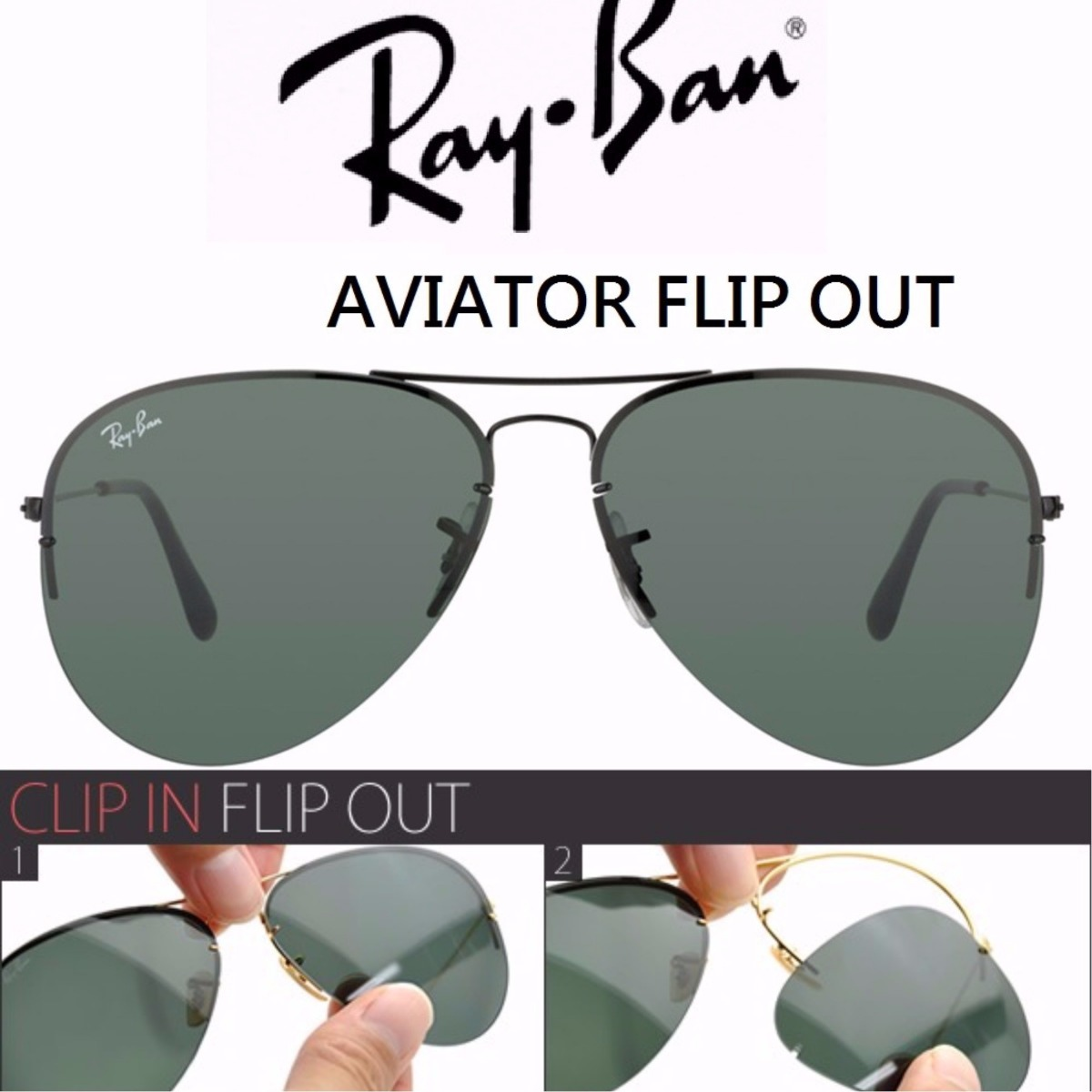 oculos masculino ray ban flip out rb3460 troca a lente. Carregando zoom. 566f5ad8bd