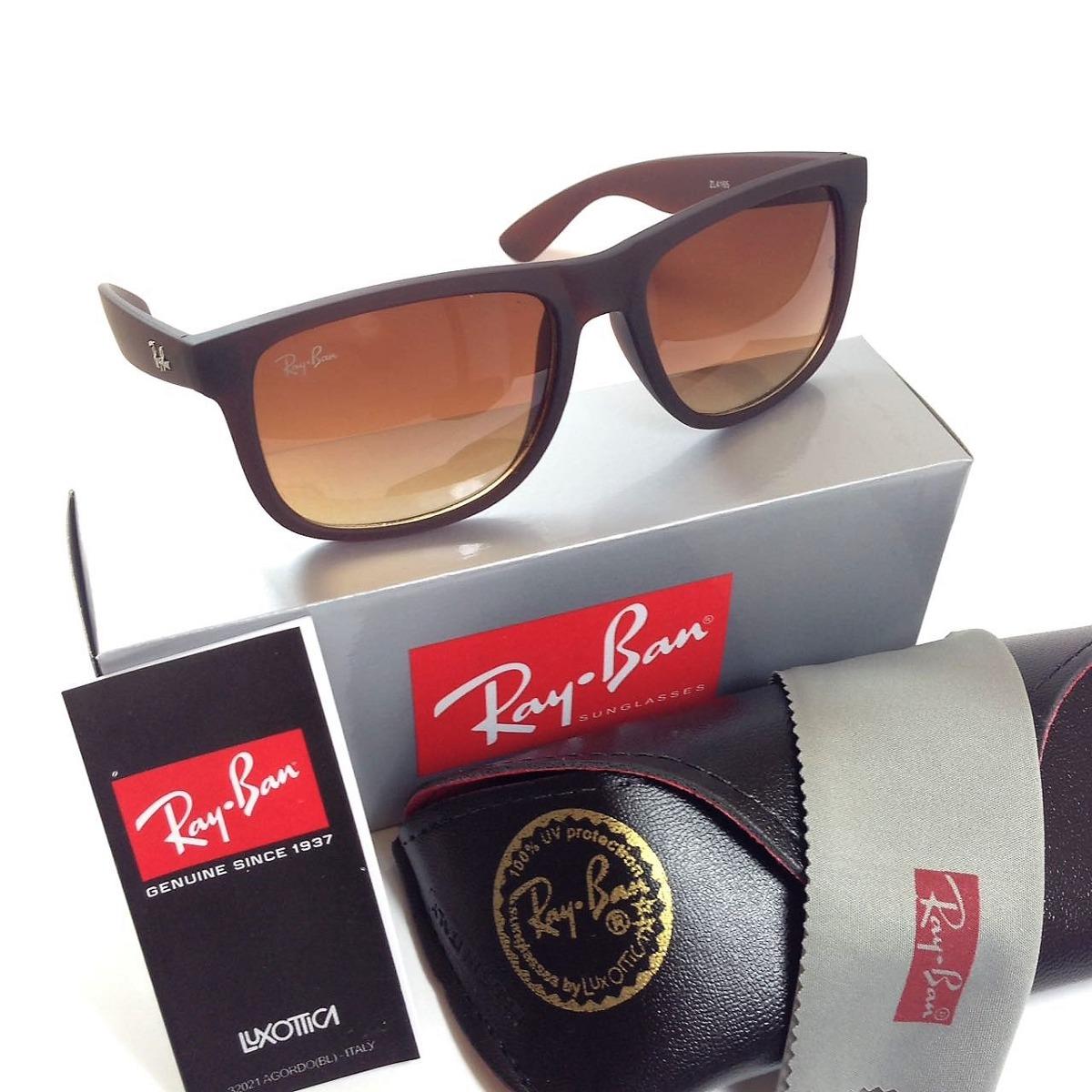 oculos masculino rb 4165 justin doura quadrado degrade uva b. Carregando  zoom. f96199359a