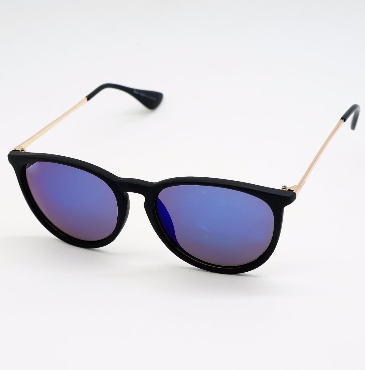 d5e4fa6839b6b óculos masculino redondo érica preto azul espelhad polarid. Carregando zoom.