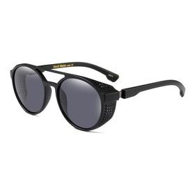 Óculos Masculino Sol Alok Redondo Steampunk Retrô Proteção