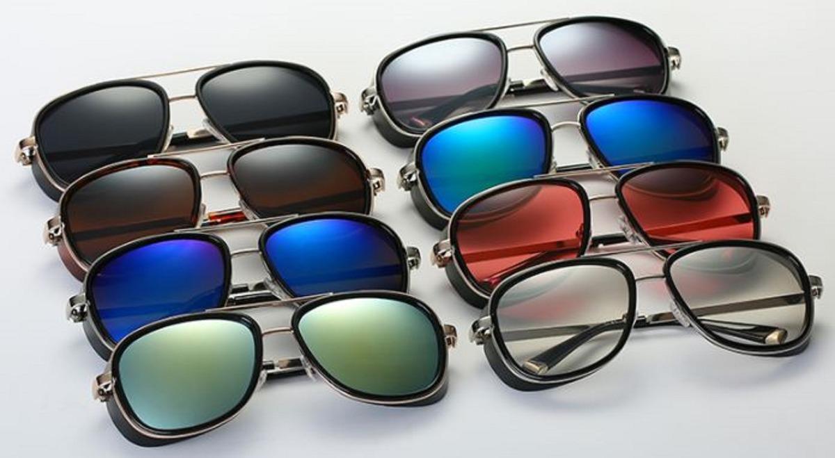 bf335e375228d óculos masculino sol homem ferro tony stark iron man uv400. Carregando zoom.