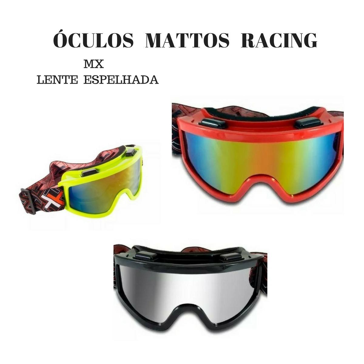 754808218 óculos mattos racing mx lente espelhada vermelho e preto. Carregando zoom.
