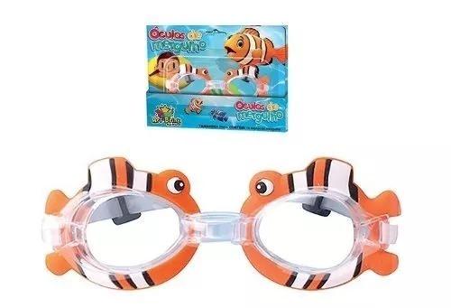a5f1e93b7 Óculos Mergulho Natação Piscina Infantil Criança Peixe Nemo - R  18 ...
