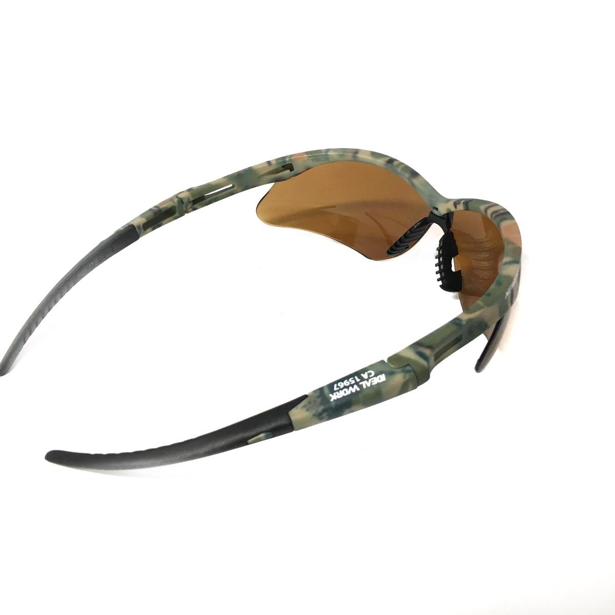 7fc6878bd74b9 Oculos Militar Camuflado Lentes Marrom C.a 15967 - R  47,99 em ...