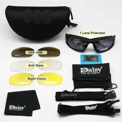 Óculos Militar Tático Policial Polarizado Daisy X7 Original - R  119 ... 9db73c2029