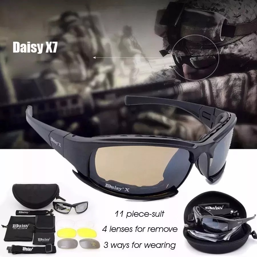 óculos militar tático policial polarizado daisy x7 original. Carregando  zoom. 12ab74cb7c