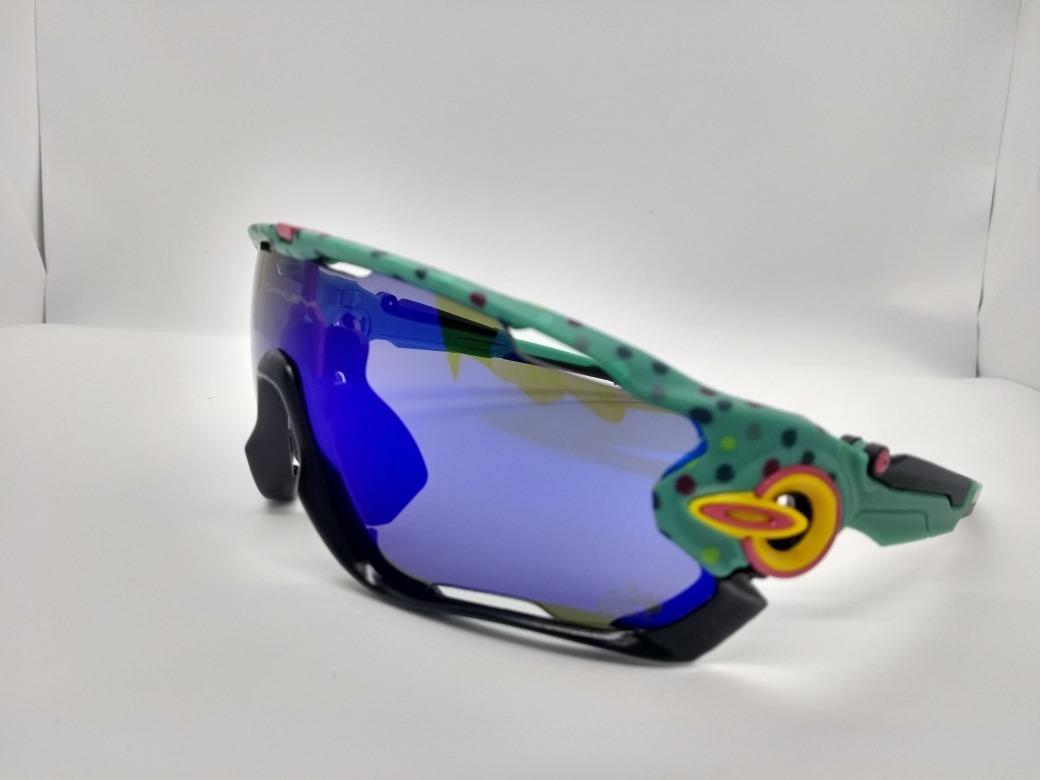 35467f4253 Óculos Modelo Oakley Jawbreaker 5 Lentes Azul Piscina - R$ 149,00 em ...