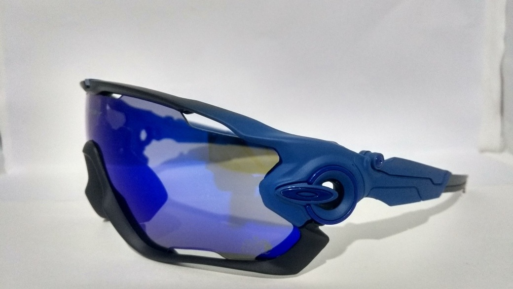 9c8d0cb33d0af óculos modelo oakley jawbreaker 5 lentes azul preto fosco. Carregando zoom.