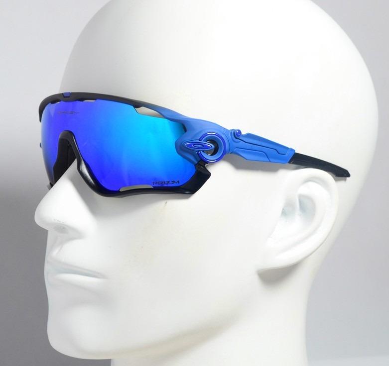 a9d70e1ee2fe4 Óculos Modelo Oakley Jawbreaker 5 Lentes Azul Preto Fosco - R  149 ...