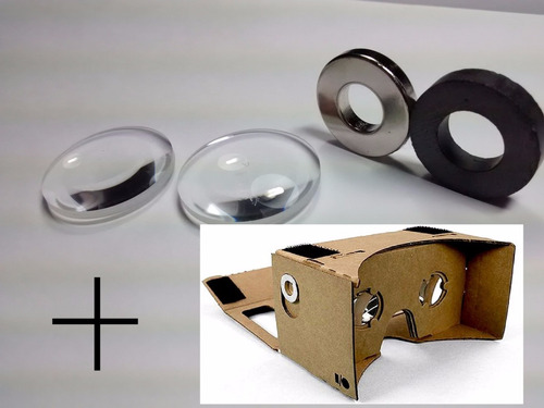 óculos montado virtual 3d google cardboard + par lente avuls