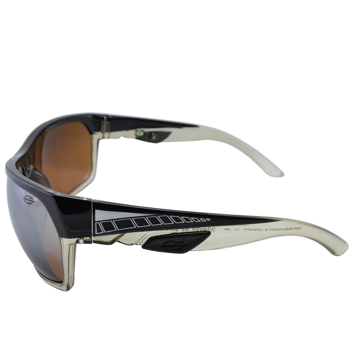 óculos mormaii amazonia 2 degrade preto creme e lente marrom. Carregando  zoom. 0996e32d34