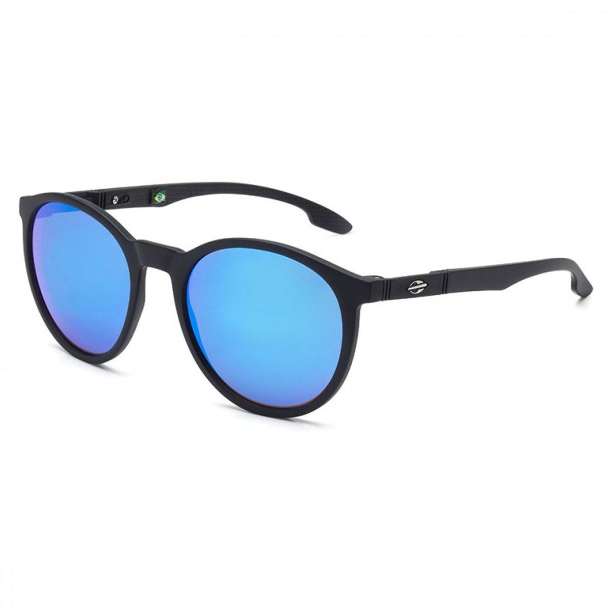 Óculos Mormaii Maui Preto Fosco  Lente Azul Espelhado - R  299,90 em ... c02aee549f
