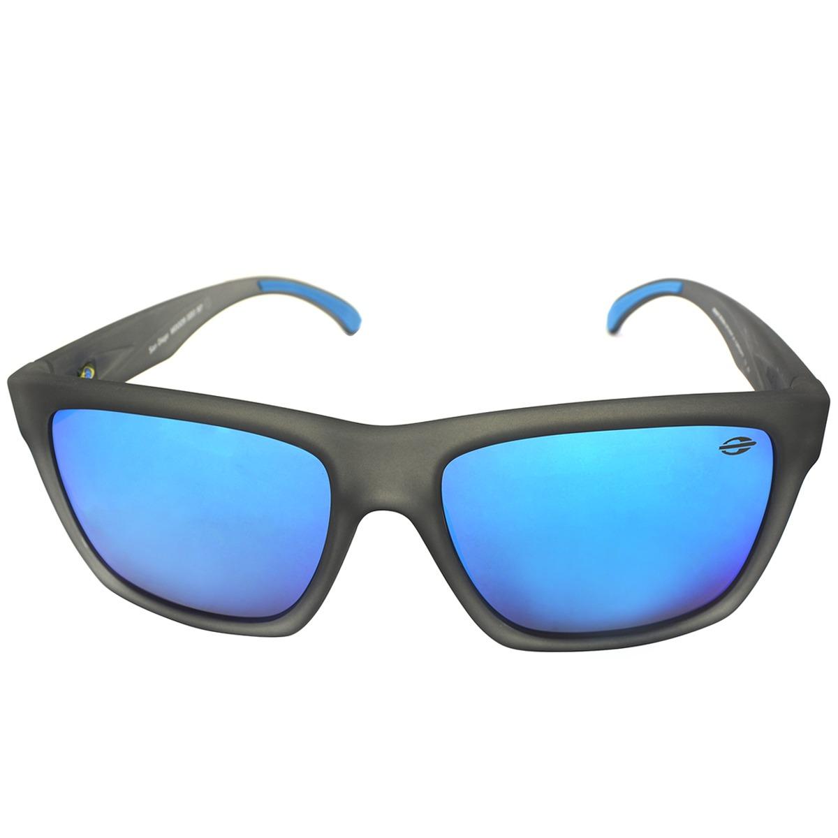 cecc35d6e óculos mormaii san diego cinza translucido/ lente revo azul. Carregando  zoom.