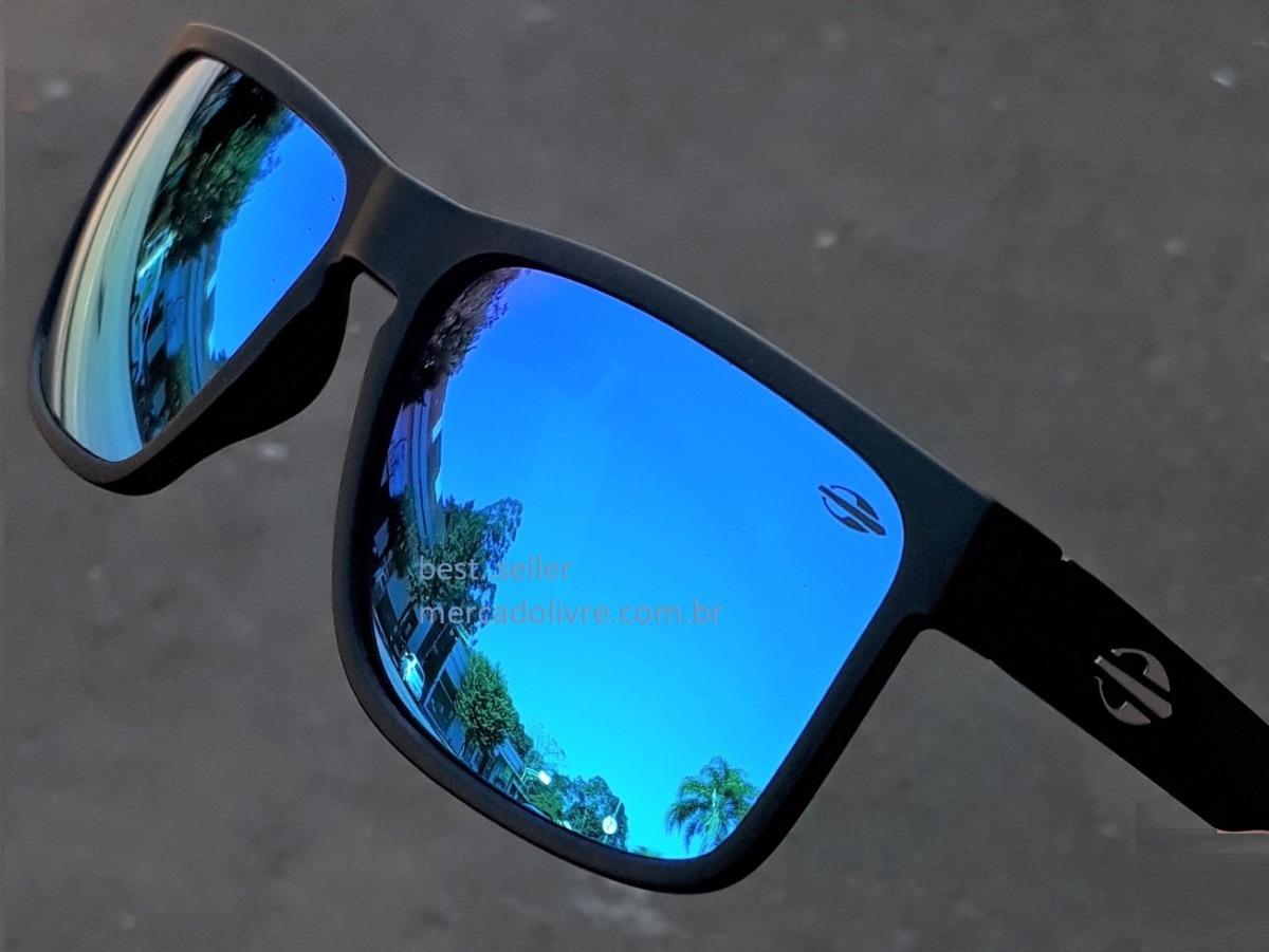 0189a6312cf7b Óculos Mormaii Monterey Preto Fosco Azul Solar Sol Espelhado - R ...