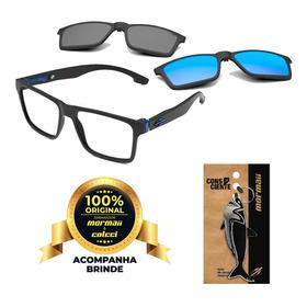 Oculos Mormaii Swap M6098a4156 Duo Clipon Preto Fosco + Azul