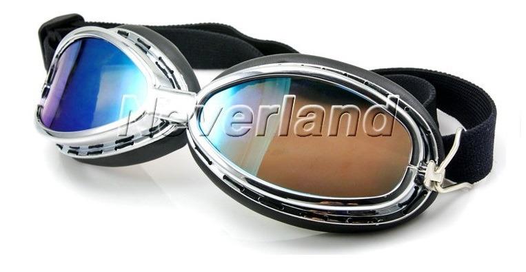 ff55f73501ff9 Óculos Moto Estilo Aviador Retro Goggles Lentes Cor Camaleão - R  70 ...