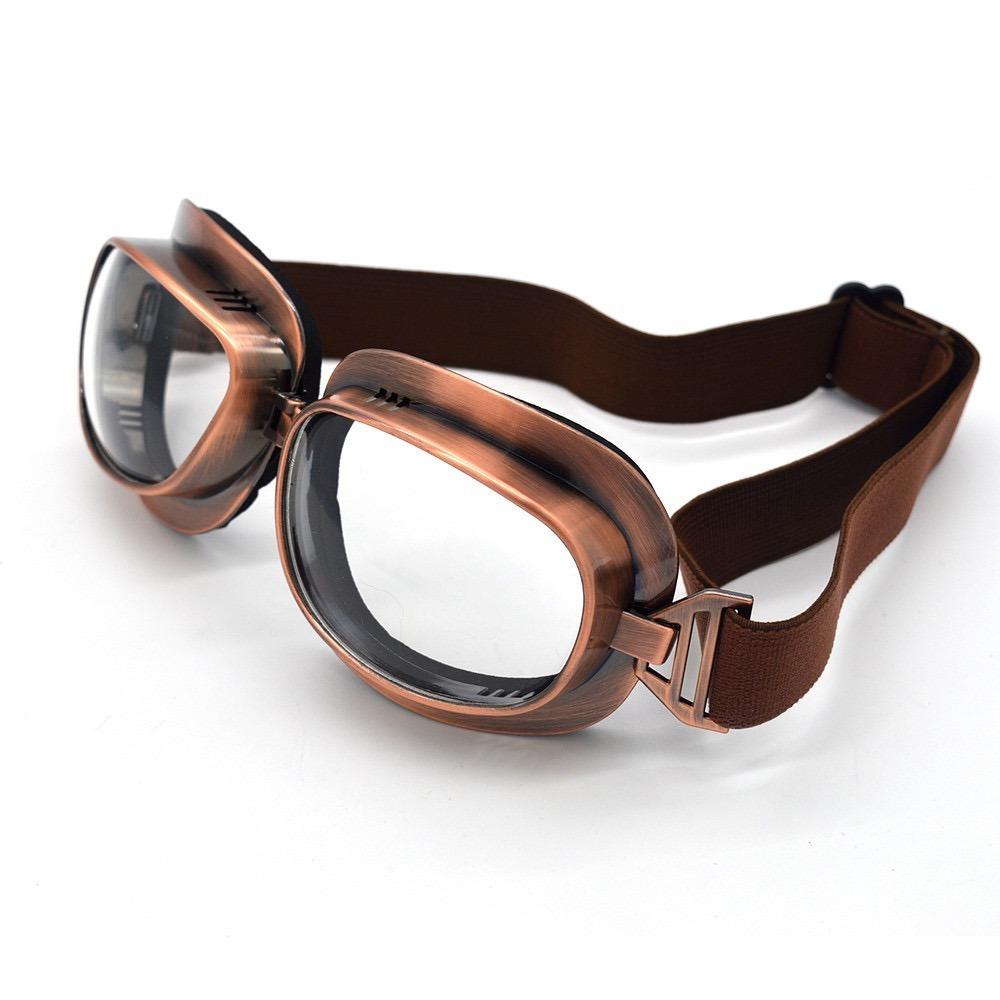 54398fc3dd358 Óculos Moto Goggle Aviador Vintage Cafe Racer - R  120,00 em Mercado ...