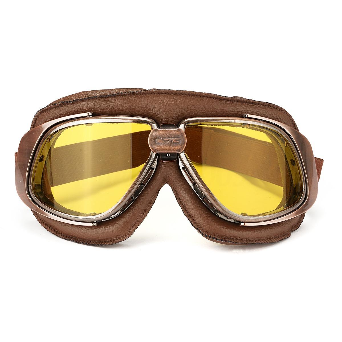 Oculos Moto Vintage Custom Old Café Bronze D Amarelo - R  115,00 em ... 8520751ea8