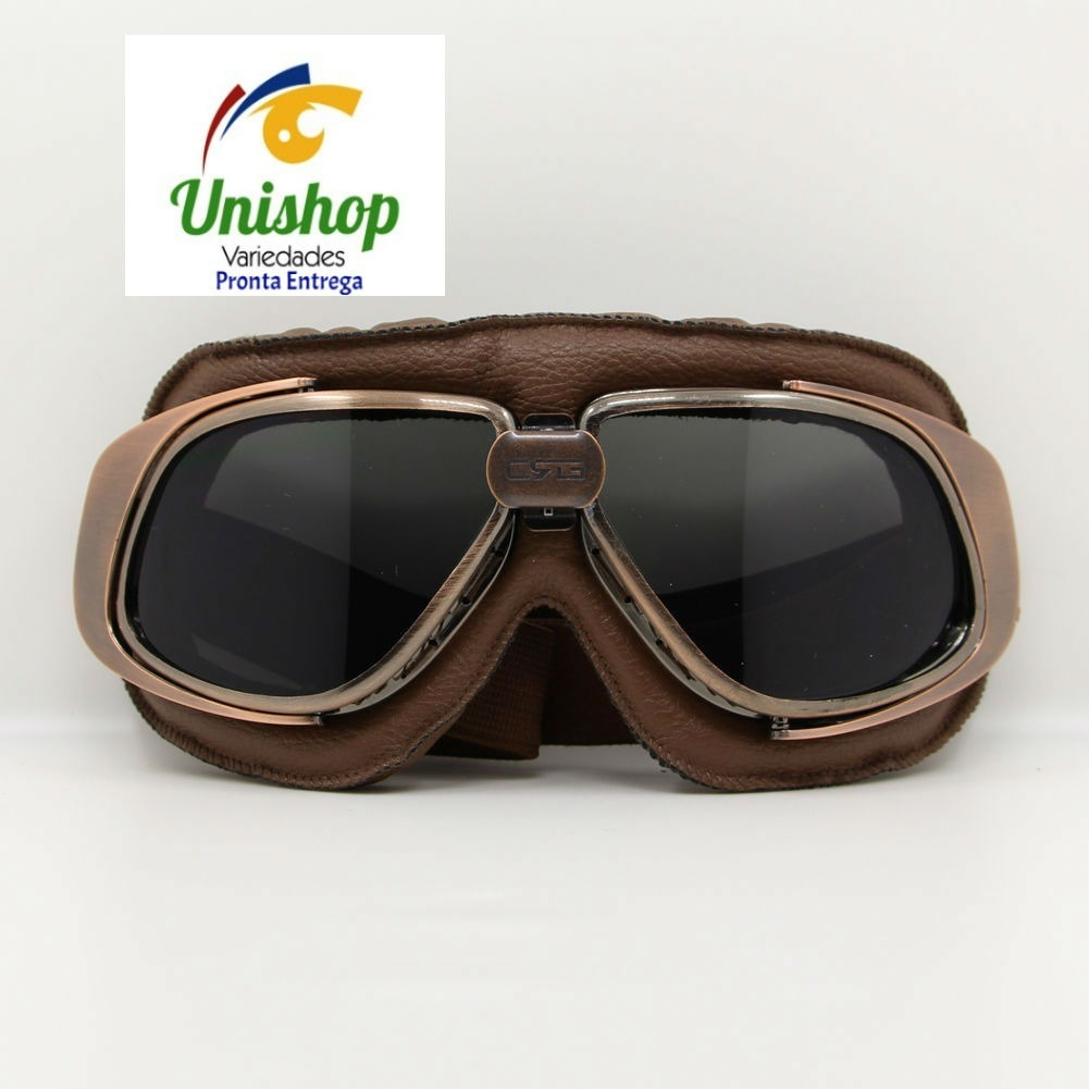 Oculos Moto Vintage Custom Old School Café Racer D Fume - R  115,00 ... e3b226bafb