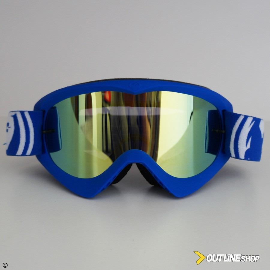 eeaf4106379a5 Óculos Motocross Dragon Mdx Azul Lente Espelhado Gold - R  217,00 em ...