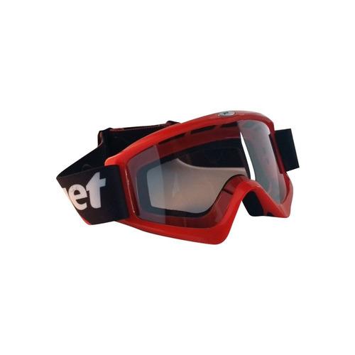 óculos motocross jet new commando vermelho brilhante