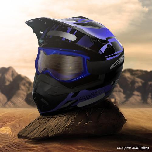 oculos motocross pro tork 788 trilha off road cross azul