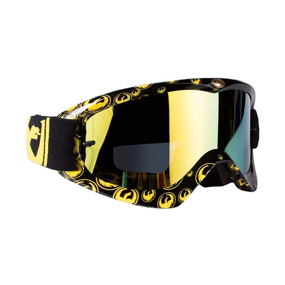 9e0d3bc140cd7 oculos motocross trilha dragon mdx gold icon preto amarelo. Carregando zoom.