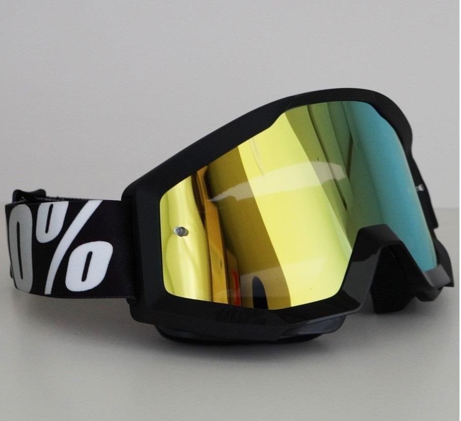 b011dcc2d óculos mx cross 100% strata outlaw preto lente espelhada. Carregando zoom.