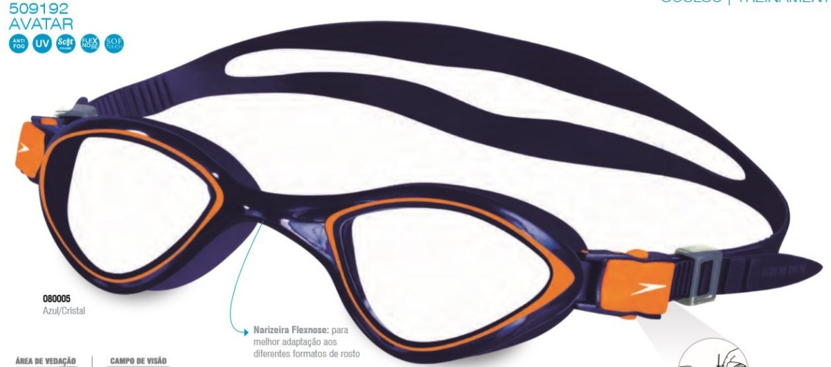 7b9f6f7252ee5 oculos natacao speedo avatar touca silicone brasil kit. Carregando zoom.
