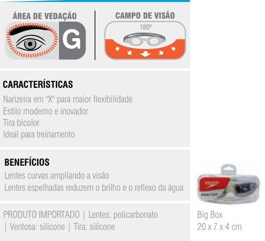 Oculos Natacao Speedo Espelhado Touca Aquafast Brasil Kit - R  129 ... aa51837b1cb