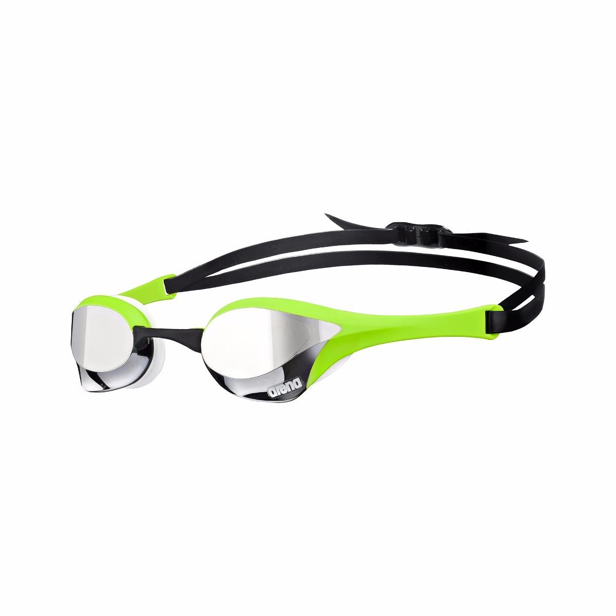 82fb2dc0b Óculos Natação Competição Arena Cobra Ultra Green Silver - R  267