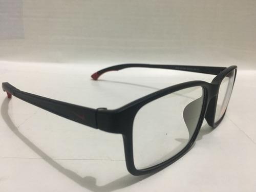 fb986d5ca Oculos Nike Vermelho Para Grau Com Hastes Ajustaveis -nk102 - R$ 130 ...