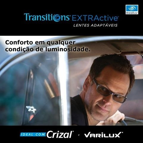 4294ff3f007fc Óculos No Seu Grau Varilux Progressiva Transitions - R  469,90 em Mercado  Livre
