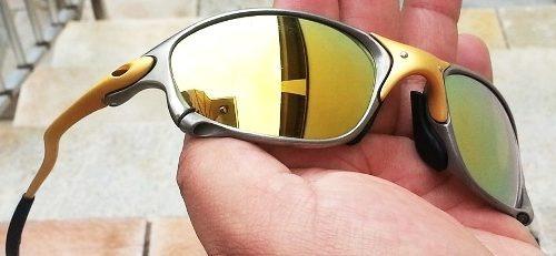 33453e6cbf1b3 Oculos Oakley 24k Double Xx 24k Gold Frete Gratis Oferta - R  2.100 ...