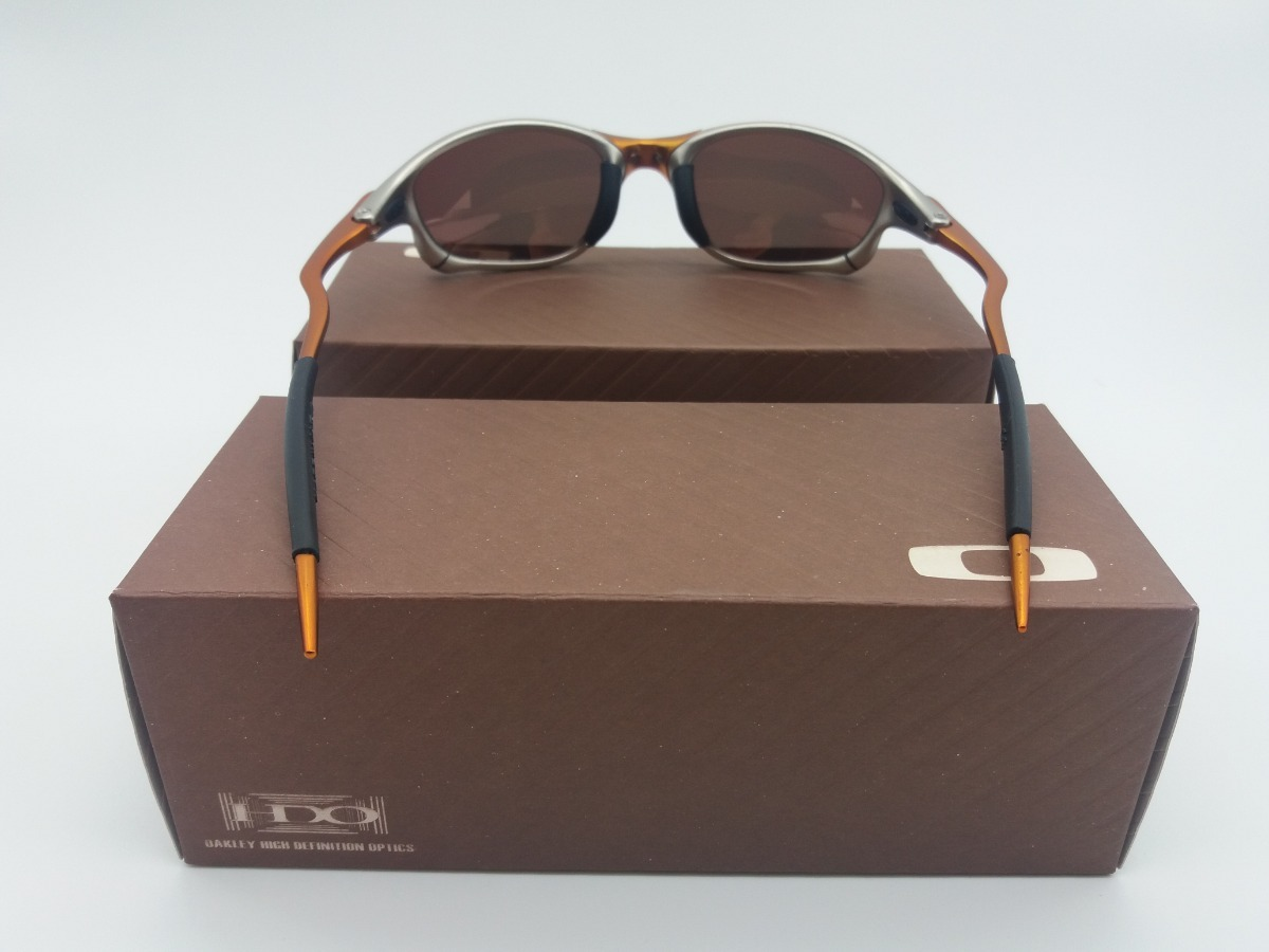 Óculos Oakley 24k Dourada + Certificado + Cartão Teste - R  79 426c8c1f122