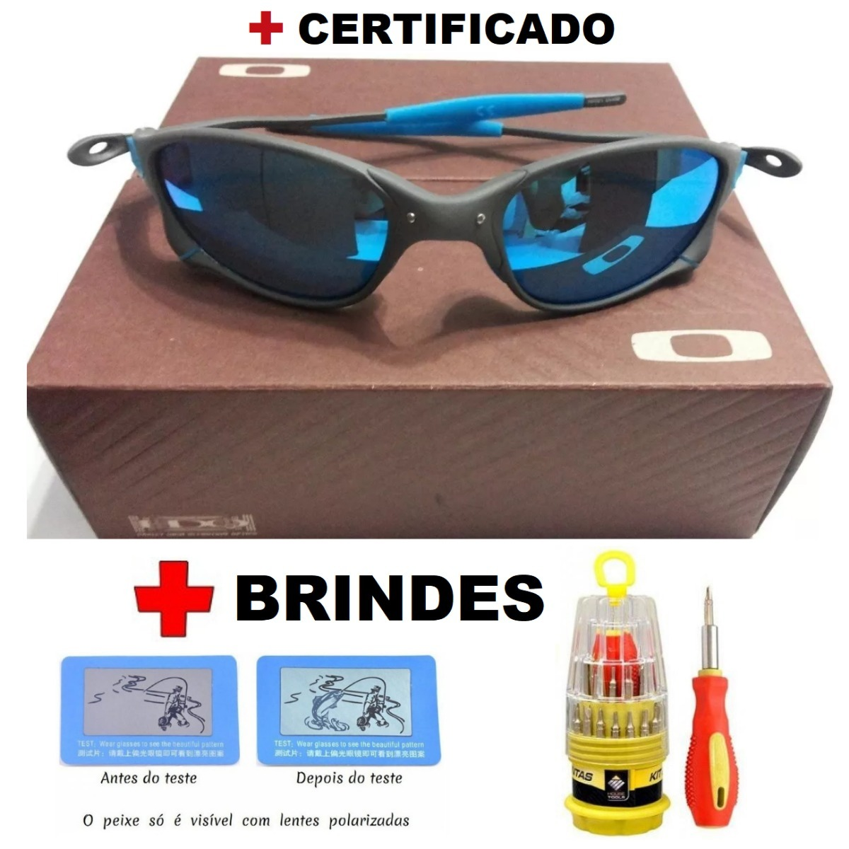 óculos oakley 24k squared ice thug + certificado + kit chave. Carregando  zoom. f2259158c2821