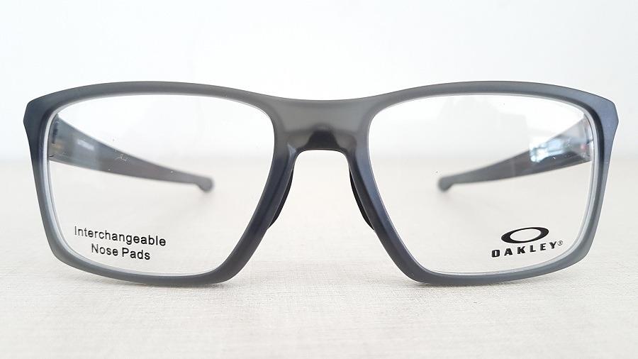 892da4de2cb66 Armação Óculos Grau Oakley Litebeam Ox8140 Satin Grey Smoke - R  349 ...