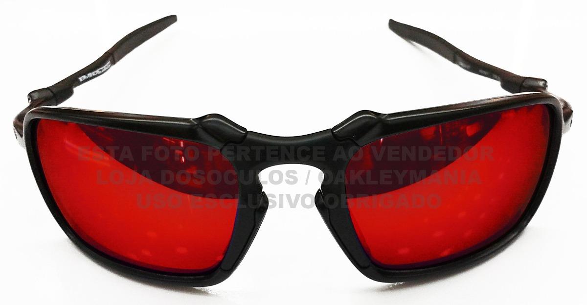 3ae6eb691 oculos oakley badman carbono black lente red polarizada usa. Carregando  zoom.