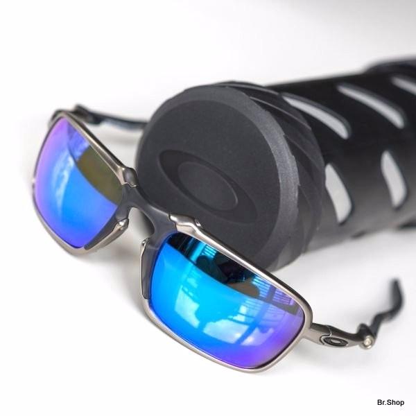 51b86ee0a Óculos Oakley Badman Plasma Saphire Iridium Polarizado Novo - R ...