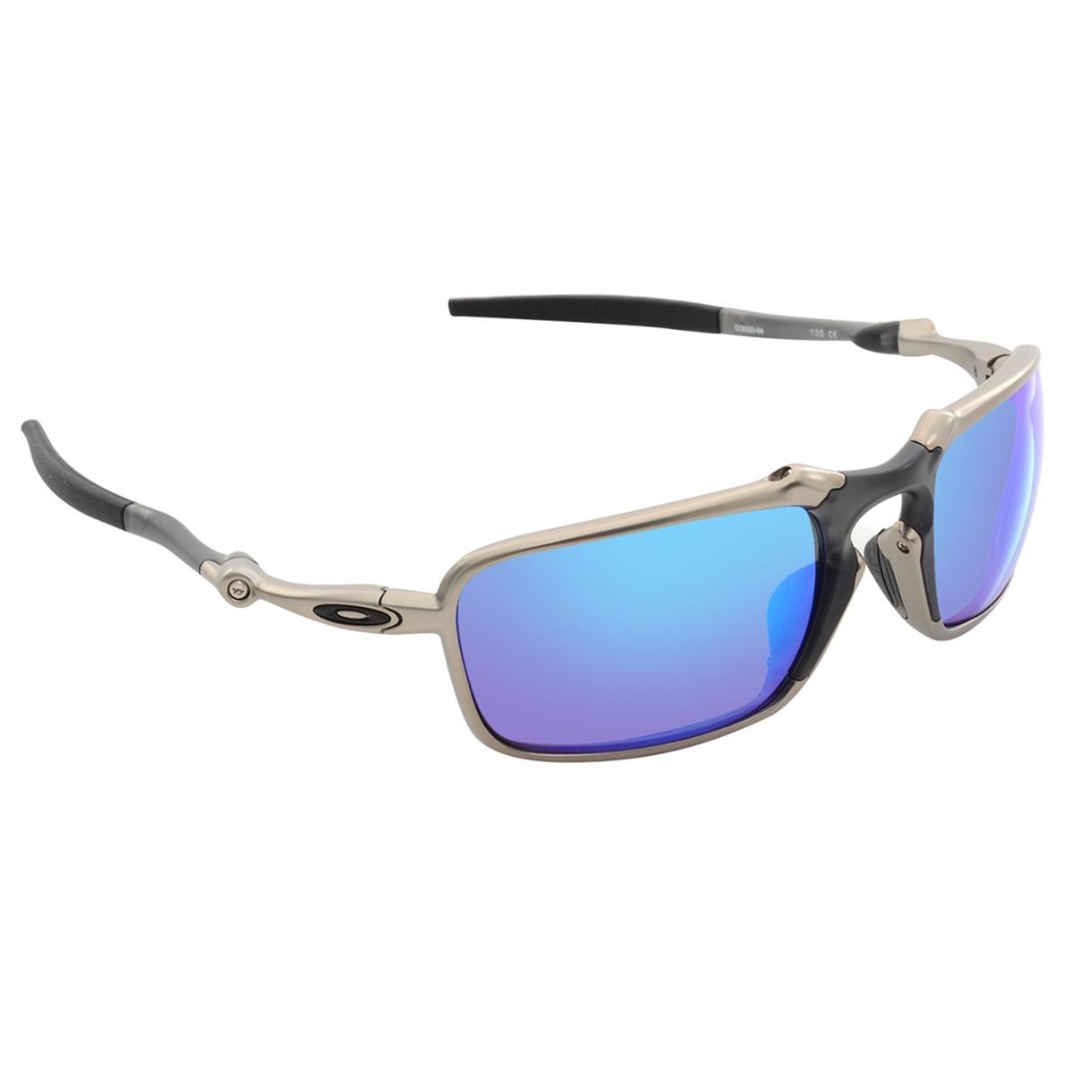 15c365fe5 óculos oakley badman plasma saphire iridium polarized. Carregando zoom.