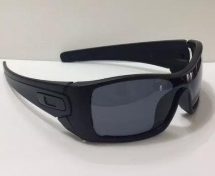 09ab300c72d48 Oculos Oakley Batwolf Black Fosco Lente Fume Polarizada - R  99