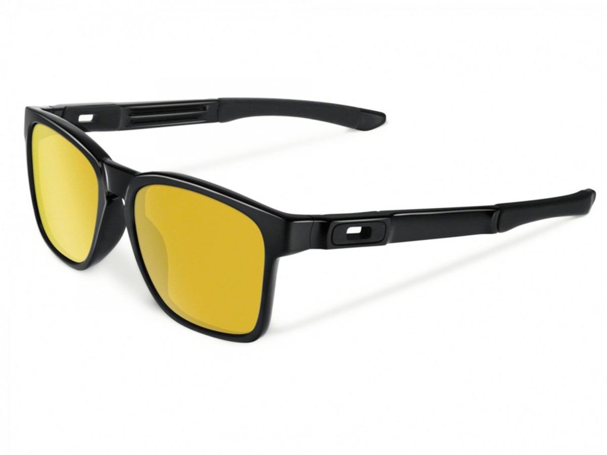 Óculos Oakley Catalyst Polished Black 24k Iridium - R  479,90 em ... 3d379d8f98
