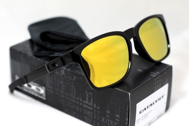 beef14126 oculos oakley catalyst polished black 24k iridium na caixa. Carregando zoom.