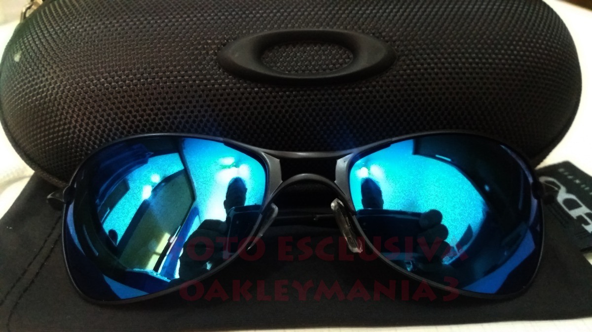 oculos oakley crosshair 2.0 black lente azul ice thug + case. Carregando  zoom. 4928b7bc6d8