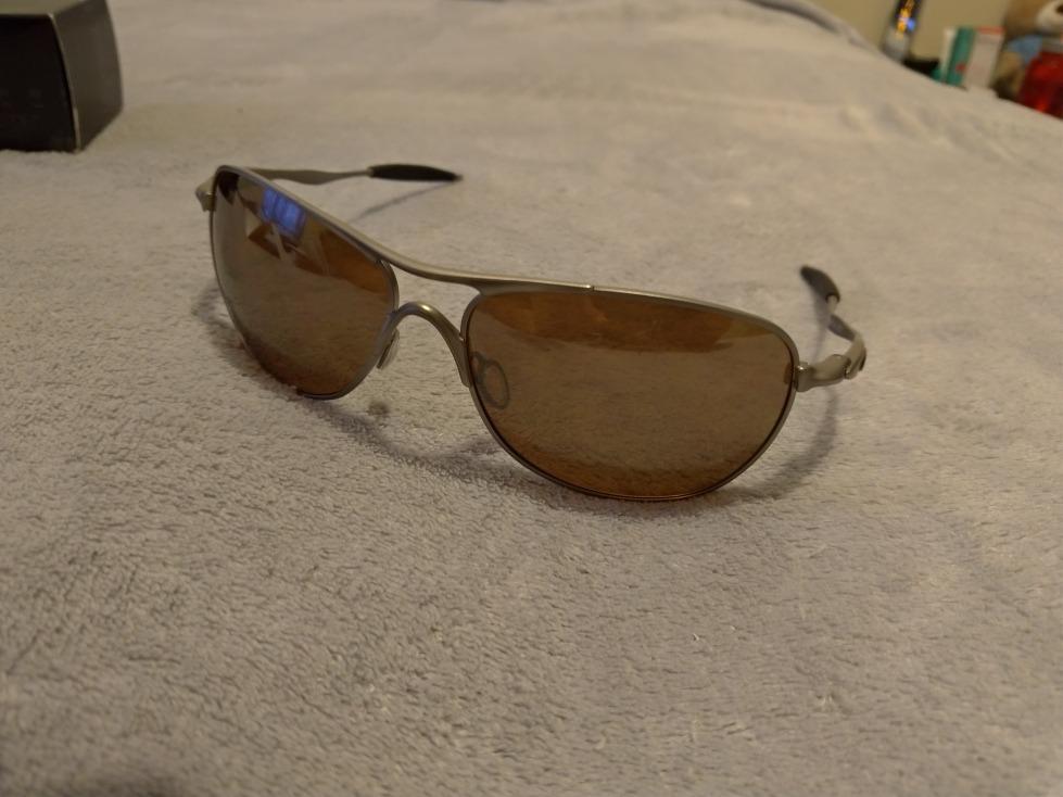 óculos oakley crosshair original - titânio e polarizado. Carregando zoom. 1dc5ea6cc3