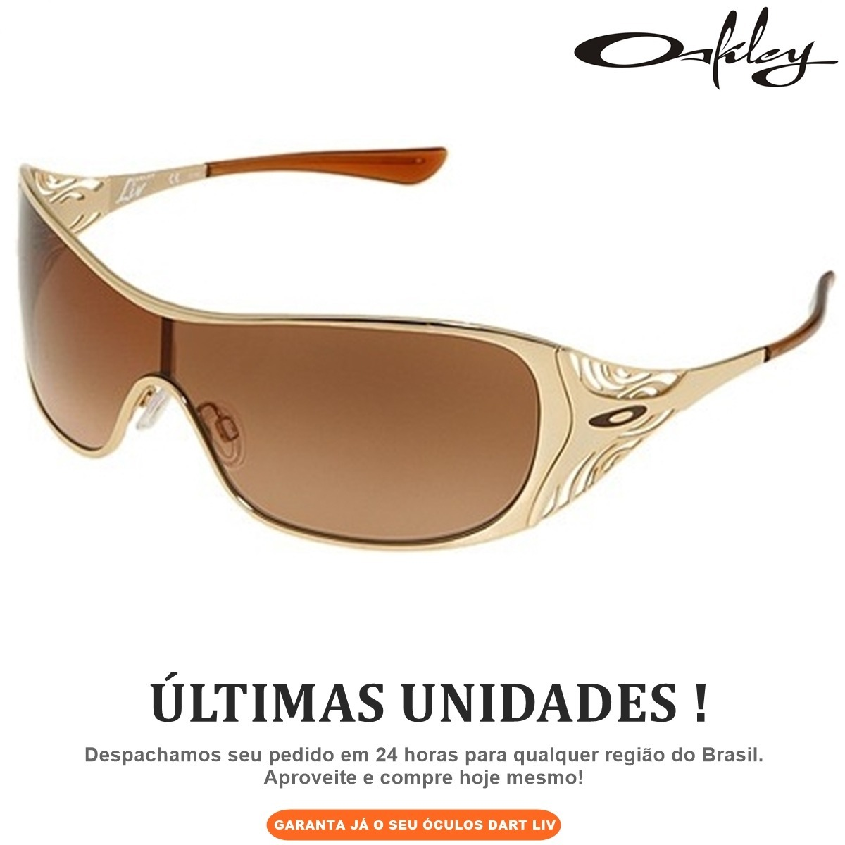 oculos oakley dart gold c  envio imediato aos correios 24hrs. Carregando  zoom. 41a0de3884